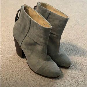 Grey gray rag & bone canvas Newbury boot